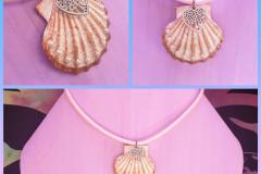 Seashell 14 With metal heart