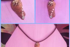 Seashell 15 With metal elephant