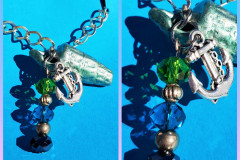 Seashell 24 With pearls and anchor