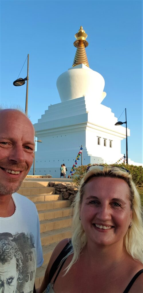 Europes largest Stupa (Buddhist temple). Benalmadena, Spain