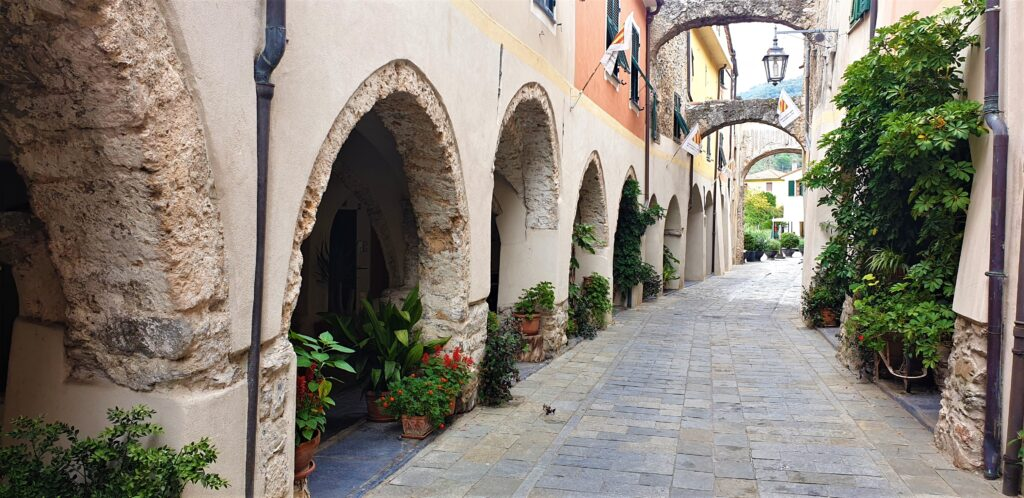 Zuccarello Italy. A small medieval town, restored to perfection.